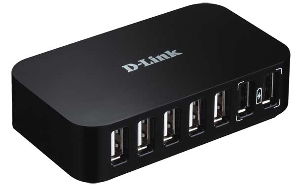 D-Link DUB-H7 USB 2.0 Hub, 7-Port, Up to 480 Mbps, USB2.0 Cable A/B 1.8m, w/Power adapter