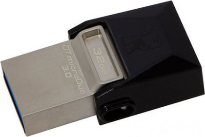 FlashDrive Kingston 32GB DataTraveler MicroDuo USB 3.0/USB OTG flash DTDUO3/32GB crni
