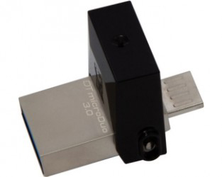 FlashDrive Kingston 64GB DTDUO3/64GB, DataTraveler MicroDuo USB 3.0/USB OTG flash crni