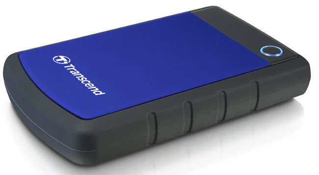 EXT 2TB Transcend TS2TSJ25H3B, USB3.0, 2.5in, Anti-shock system, Backup software, 216 gr, Black/Blue
