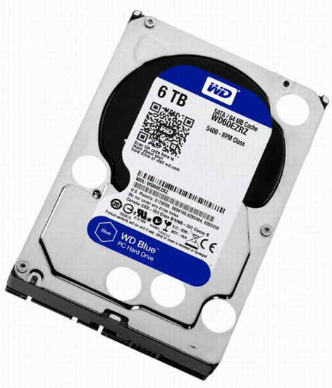 WD 6TB WD60EZRZ BLUE, 3.5in, 64MB, 5.400 rpm