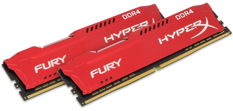 Kingston DDR4 32GB (2x16GB kit) 2133MHz HX421C14FRK2/32 HyperX Fury Red