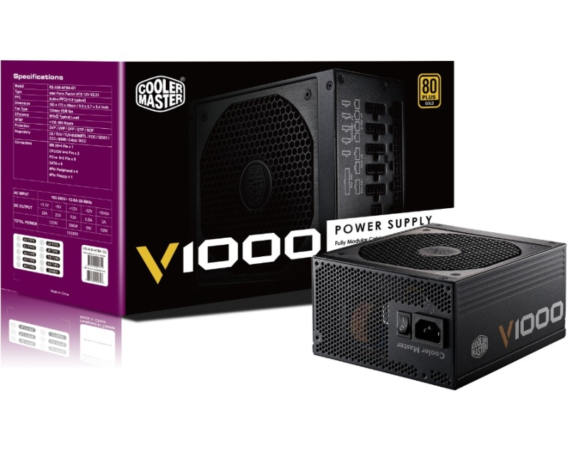 CoolerMaster 1000W RS-A00-AFBAG1-EU 5Y Vanguard