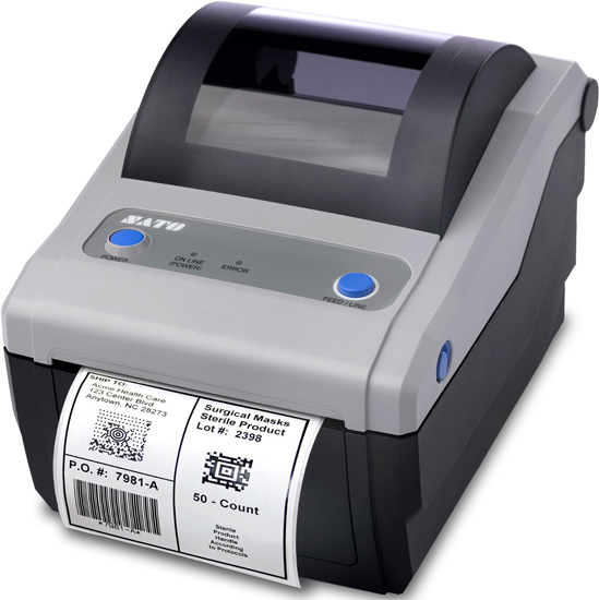 SATO CG408, Thermal Transfer, Centronix, 4in USB/RS232