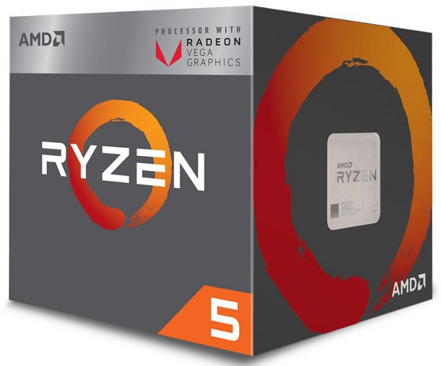 AMD-AM4 Ryzen 5 2400G 4 cores 3.6GHz (3.9GHz) Box