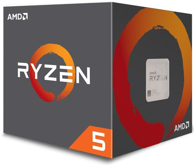 AMD-AM4 Ryzen 5 1600 6 cores 3.2GHz (3.6GHz) Box