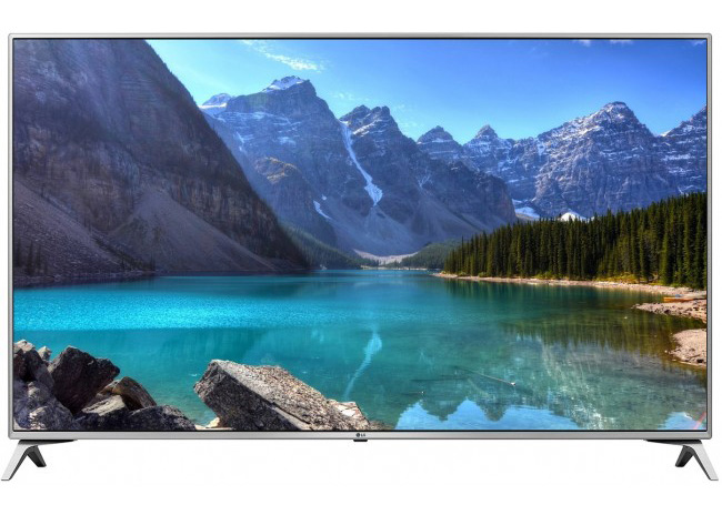 LG 60in 60UJ6517 LED TV Ultra HD, WebOS 3.5 SMART, T2, Silver, Two Pole stand